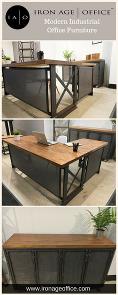 New rustic office furniture projects ideas Custom Wood Furniture, Loft Furniture, Cheap Furniture, Furniture Projects, Office Furniture Design, Bathroom Furniture, Discount Furniture, Industrial Office Desk, Rustic Office