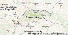 Map of Slovensko