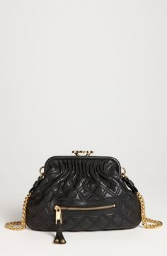 Marc Jacobs Little Stam Leather Crossbody Bag - Lyst Black Leather Crossbody Bag, Crossbody Bags, Diamond Quilt, Quilted Leather, Vintage Chanel, Girls Best Friend, Luggage Bags, Fashion Backpack, Purses And Bags