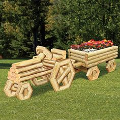 Woodworking Patterns Woodcrafting Plans and Patterns, Yard Art Patterns, Tools and Supplies by Sherwood Creations Landscape Timber Crafts, Landscape Timbers, Landscape Design, Landscape Art, Outdoor Projects, Garden Projects, Wood Projects, Wood Planters, Planter Boxes