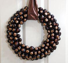 For Ohio State fans. Buckeye Door wreath.