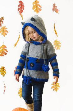 Sneaky Raccoon Hoodie - I Like Knitting
