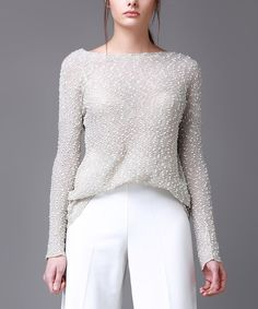 Beige Speckled Tunic