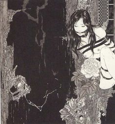 Takato Yamamoto For me Takato Yamamoto is the perfect mix of art nouveaux illustration (mostly harking to the work of Aubrey Beardsley) and the more horror/gore end of Ukiyo-e - looking at the work of. Yamamoto, Ero Guro, Art Chinois, Art Japonais, Japan Art, Macabre, Erotic Art, Dark Art, Illustrators