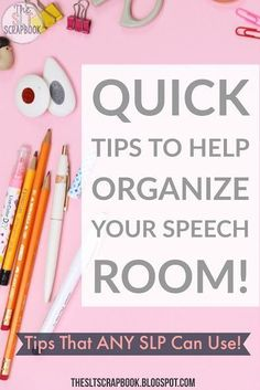 Keeping your speech therapy room organized throughout the year doesn't need to be difficult! These quick tips are a huge sanity saver for the busy SLP!