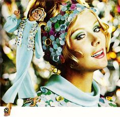 1969 Almay eye shadow advertisement.