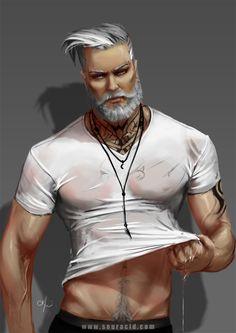Silver fox by SourAcid.deviantart.com on @DeviantArt