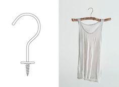 DIY: Natural hangers, hang wedding dress