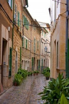 old style mediterranean houses as found in spain and italy Stock Photo