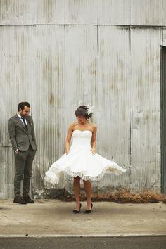 i love the idea of a short wedding dress!