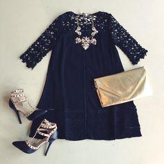 Crochet lace dress #swoonboutique