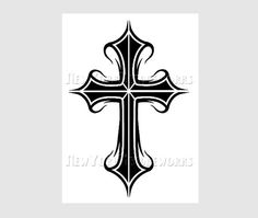 Cross Pattern Cross Silhouette Silhouette by NewYorkNeedleworks, $8.00