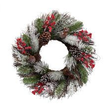 """Wreath with Berries & Pine Cones by Celebrate It, 24"""""""