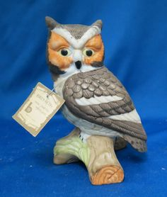 Brinnco Hand Crafted Porcelain Owl Figurine by SSGByMichele on Etsy
