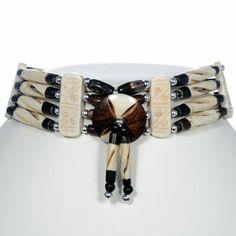 Apache Style Bone Choker Handmade Four Seasons Spirit