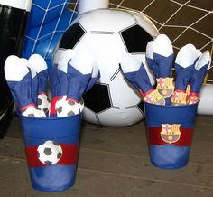 Soccer party center piece soccer party utensils Soccer party utensils (Barcelona) Soccer party name banner (Barcelona) So. Messi Birthday, Daddy Birthday, Barcelona Soccer Party, Messi Y Ronaldinho, Fifa, Soccer Birthday Parties, Party Names, Sports Party, Star Wars Party