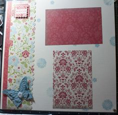 Page 1 of the club's Friend page we created.  New paper pack and baja butterflies with diecuts.