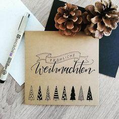 christmas list Anja Keller auf In - christmas Diy Christmas Cards, Christmas Time, Christmas Crafts, Christmas Decorations, German Christmas, Diy Cards, Hand Lettering, December, Presents