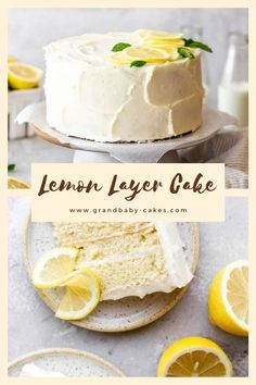 This perfectly moist, tender and soft lemon layer cake is iced in a wonderful lemon cream cheese frosting and bursting with irresistibly zingy and tangy lemon flavor! # lemon cake The BEST Lemon Layer Cake Lemon Layer Cakes, Lemon Cakes, Lemon Cream Cheese Frosting, Lemon Cake Frosting, Cake Mix Recipes, Lemon Recipes, Juice Recipes, Fancy Cakes, Savoury Cake