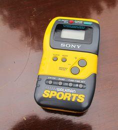 Very 1980s Sony Sports Walkman FM/AM Radio