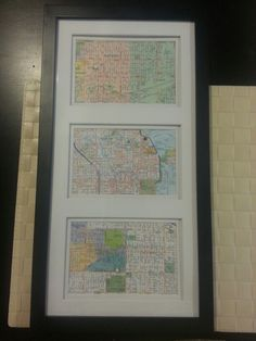 Anniversary gift for him or her. Buy a map and a frame.  where we met, where he proposed, and where we got married.