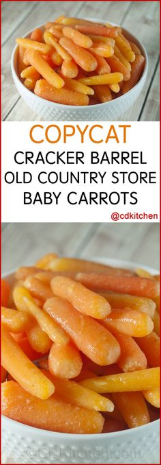 Copycat Cracker Barrel Old Country Store Baby Carrots - You might think that Cracker Barrel has some crazy secret ingredient that makes their carrot side dish so delicious. It is a secret ingredient b (Cheap Easy Meal 3 Ingredients) Baby Carrot Recipes, Baby Food Recipes, Cooking Recipes, Healthy Recipes, Healthy Foods, Easter Recipes, Turnip Recipes, Cooking Tips, Healthy Eating