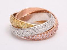 CARTIER Trinity Rare 3.45 Carat Diamond Tri-Gold...