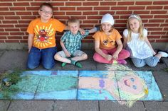 "Students in Denmark create Fairy Tale ""street art"" during a Hans Christian Andersen unit!"