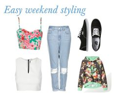 """""""Easy weekend styling"""" by chebais ❤ liked on Polyvore featuring Topshop, Vans and adidas"""
