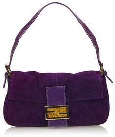 c274777b9c5 Fendi Vintage Suede Baguette Purple Suede