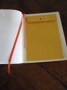Glue an envelope in