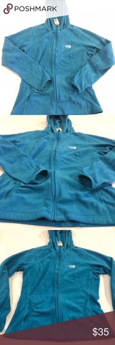 """The North Face Women's large zip up hooded jacket Pit to pit:20"""" Length:24"""" Waist:36"""" Good condition The North Face Jackets & Coats"""