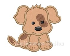 Baby Puppy Dog patch over eye spot Applique Machine Embroidery Design Pattern Download Boy  baby animal. $3.50, via Etsy.