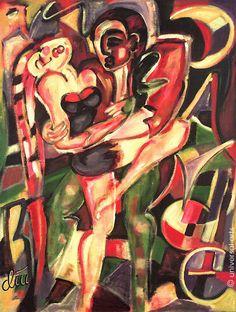 JACQUELINE DITT - Dance A4 Druck n.GemäldeTanzpaar Erotik erotic Bilder Giclee