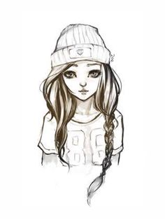 Cute Teen Girl Drawing #DrawingOfTheDay #Art #Drawing