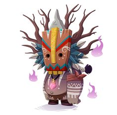 Forest Tiki 2 by Jordi Villaverde, via Behance