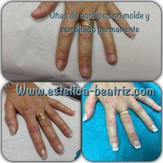 Uñas acrilico transparente