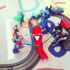 Elf on the Shelf Idea Tied to the Race Track