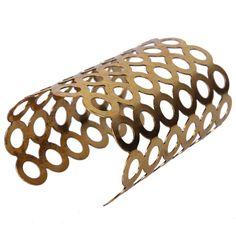 Trendy Geometry Stretchy Opening Pattern Bangle Hollow Out Long Shape Wristband Iron Bracelet