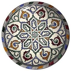 "Moroccan Mediterranean Design Color Serving Centerpiece Plate Wall Decor 12""ø"