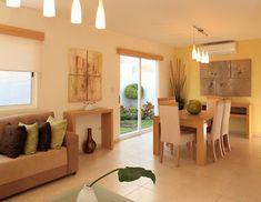 Decoración Minimalista y Contemporánea: Elegante y atractivo diseño de sala y comedor contemporáneo