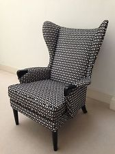 Parker Knoll Vintage Retro Armchair Reupholstered Geometric Mid Century fabric