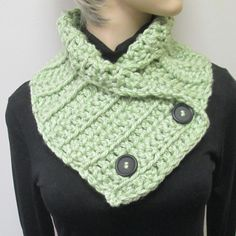 Light Spring Green Warm Fall Scarf,  Winter Chunky Scarves, Warm Winter Scarves, Fall Knit Scarf, Winter Chunky Scarf, Fabiana B2-020 by CeciliaAnnDesigns on Etsy