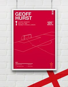 Freelance designer Rick Hincks has created some incredible minimalistic World Cup Posters - one of our favourites being this amazing depiction of the controversial Geoff Hurst goal in the England vs West Germany match of 1966. £12.00.