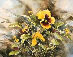 Yellow Pansies by Nancy Taylor Stonington