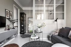 A Cozy Grey Scandinavian Studio Apartment