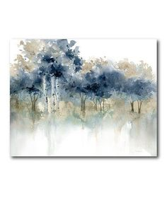Waters Edge I X Framed Wall Art Indigo - Bring a touch of simplicity to your home décor with the Waters Edge I Wall Art. Depicting an array of trees in soft watercolors, this serene imagery of nature brings a subtle yet sophisticated look to any space. Canvas Art Prints, Painting Prints, Canvas Wall Art, Watercolor Landscape, Watercolor Paintings, Watercolor Ideas, Watercolors, Tableau Pop Art, Framed Wall Art