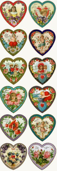 Imprimolandia: Corazones de San Valentín vintage