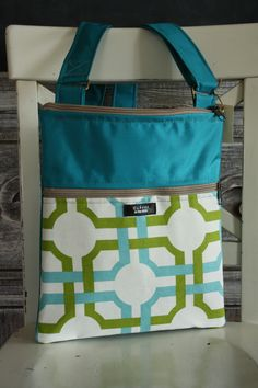 $65 Hello spring!  Bright, bold, beautiful eco-handbag by Echoes upcycled from diverted landfill