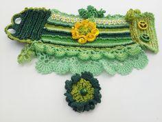 Freeform Crochet Cuff-Crochet Cuff BraceletBeaded от SESIMTAKI